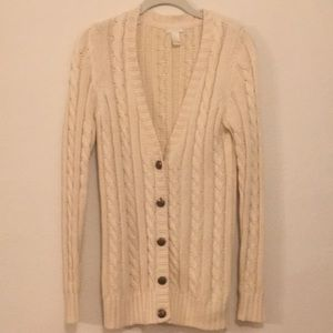 Forever 21 Cream Cardigan, size Small